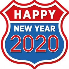 Happy New Year 2020. Retro route sign. - Stock Vector , #Aff, #Retro, #Happy, #Year, #Stock #AD Happy Year, Happy New Year 2020, Handwritten Script Font, Christmas Design, Burger King Logo, Signs, Retro, Happy New Year, Shop Signs