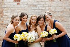Navy blue and yellow wedding