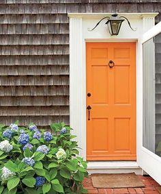 orange feng shui front door color