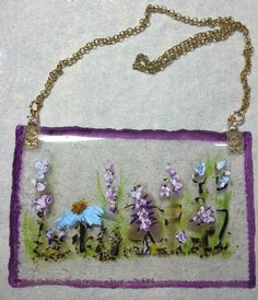 Art Glass SuncatcherWildflowers Cubicle by PotpourriPenny on Etsy