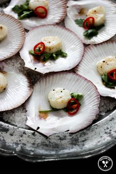 Sea Scallops with a Vodka Lime Dressing