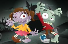 Deviantart: more like fun cartoon zombie couple by louisdavilla Zombie Cartoon, Black Relationship Goals, Couple Picture Poses, Wedding Videos, Cool Cartoons, Funny Faces, Halloween Fun, Bowser, Character Design