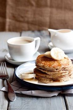 #breakfast #frühstück #banana #pancake #cacao