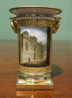 A Worcester Flight, Barr & Barr Spill Vase  CIRCA 1810  Height: 4 1/8""
