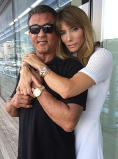 Jennifer Flavin with husband Sylvester Stallone Hollywood Actresses, Actors & Actresses, Jennifer Flavin, Burt Young, American Gladiators, Janice Dickinson, Angie Everhart, Supportive Husband, Kathy Griffin