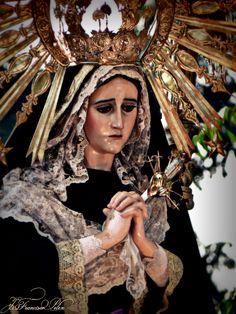 Procesión de Velación, segundo domingo de Cuaresma. Virgen de la Soledad, Parroquia Santísimo Nombre de Jesús, La Recolección.