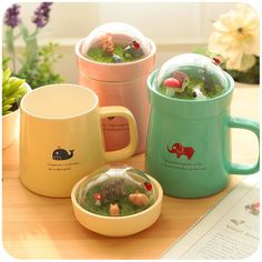 Micro landscape Mug milk cup large office drinking cups coffee lovers ceramic cup with cover http://ali.pub/1l71vh