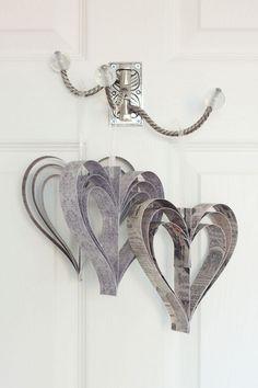 DIY: paper hearts