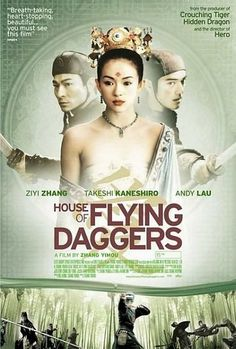 House of the flying daggers - the most beautiful love story I've seen! and a crazy soundtrack too