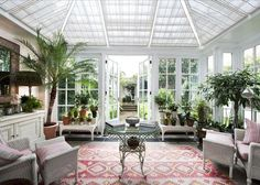 Orangery in lower ground floor apartment in Belgravia: I want one of this!