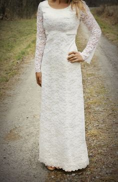 Bohemian wedding dress vintage wedding dress lace by RachelCaseys