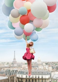 and she floats on air with an arm full of balloons! take me with you!!!!!!!!!