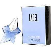 Angel - Eau De Parfum Spray .8 OZ $78.99 www.aweddingoutlet.com Select Sizes Available Angel by Mugler blends East Asian scents, creating a delightful fragrance women love to wear from dawn to dusk or through the night. Introduced in 1992 by Thierry Mugler for women, this eau de parfum spray features melon and coconut top notes that yield to a complex heart including honey.