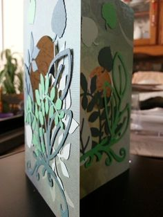 A Birthday tri-fold card.  The idea was to layer to foliage and peel it back to read the sentiment.
