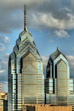 These two 80s Philadelphia skyscrapers are definitely Deco influenced.