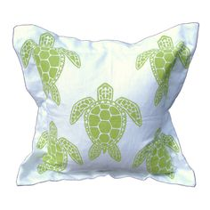 Sea Turtle Pillow in Green