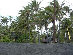 Black sand beach on the big island of Hawaii