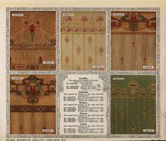 Wallpaper From The 1912 Sears Catalog Craftsman