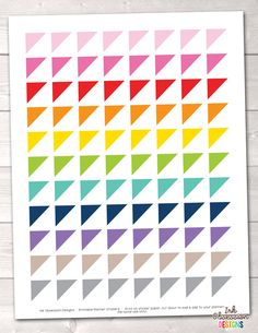 Corner Triangles Printable Planner Stickers – Erin Bradley/Ink Obsession Designs
