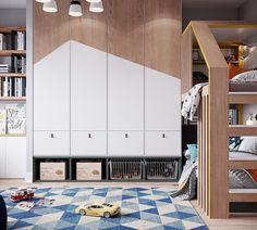 На изображении может находиться: в помещении Bedroom Cupboard Designs, Kids Bedroom Designs, Kids Room Design, Cool Kids Rooms, Kids Room Art, Boys Room Decor, Kitchen Room Design, Baby Boy Rooms, Kids Furniture