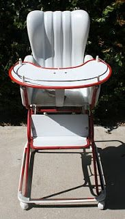 Isab Vintage High Chair That Converts To A Walker