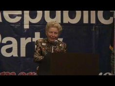 MOGOP Chairman Ed Martin presents Phyllis Schlafly with a lifetime achievement award.