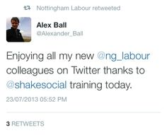 Training the Nottingham City Councillors on how to use Twitter.