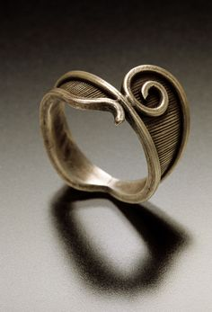 spiral ring - sterling and fine silver, by Chuck Domitrovich | Flickr - Photo Sharing!