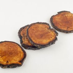 DIY tutorial for repurposing tree branches and creating beautiful and durable rustic coasters.