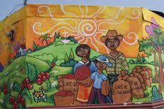 Mural walls all over, Ataco, El Salvador.