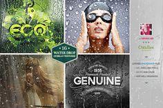 16 Water Drop Grunge Overlay Texture