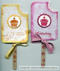 Eis am Stiel als Einladung und Geburtstagskarte   infopostanne - Kreativ mit Stempeln