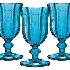 Jogo de Taças para Vinho Luminus Azul 160ml Mart