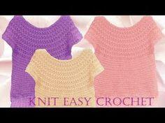 Aprende a tejer Blusas a crochet paso a paso - Learn knit easy crochet - YouTube
