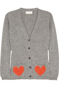 Heart-pocket cashmere cardigan / Chinti and Parker