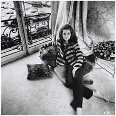 Sixties   Princess Ira von Furstenberg, 1967, by Henry Clarke