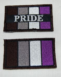 Asexual Ace Pride Flag embroidered patch by PufferfishCreations Ace Pride, Pride Flag, Flag Patches, Pin And Patches, Transgender, Lady Power, Ace Ace, Different Flags, Rocket Raccoon