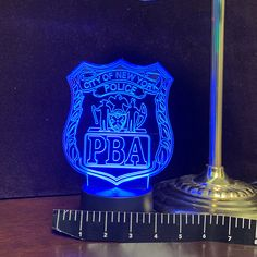 NYPD PBA Gift Light - Color Changing Desk Light - Select Design or request your own. Premier Display Inc. Gifts For Cops, Police Lights, Lighting Logo, Desk Light, Acrylic Colors, Line Art, Light Colors, Fathers Day, The Selection