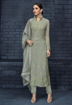 Shop the Indian Ethnic Wear Straight Pant Suit Salwar Kameez at Cbazaar. Large collections, attractive discounts on all Straight Pant Suit Indian Ethnic Wear Straight Pant Suit Dresses and get express shipping. Buy Now! Silk Anarkali Suits, Churidar Suits, Pakistani Suits, Pakistani Dresses, Salwar Kameez, Punjabi Suits, Indian Dresses, Lehenga Suit, Silk Dupatta