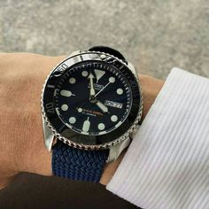 #Perlon watch strap with diver watch