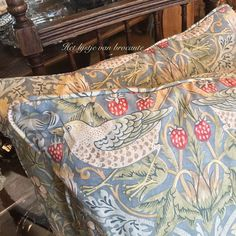 Strawberry Thief pillows by William Morris available in my shop....by Silvia Hokke
