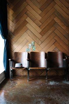 Look We Love: Subway Tiles in a Herringbone Pattern