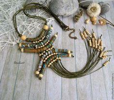 Boho necklace / Кулоны, подвески ручной работы. Ярмарка Мастеров - ручная работа. Купить Украшение в стиле бохо. Handmade. Зеленый, подарок девушке