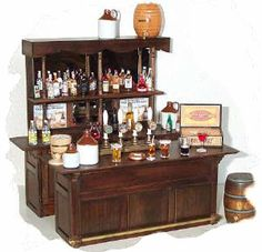 Miniature Fully Stocked Bar