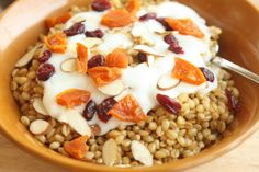 Wheat berries for hot breakfast cereal