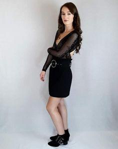 #fashion from www.pinkblackheart.com #skirt #bodysuit Jewelry Shop, Handmade Jewelry, Natural Stone Jewelry, Skirt Belt, Black Heart, Jacket Dress, Knitwear, Shop Now, Bodysuit