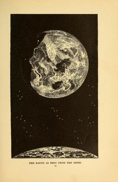 """The Earth as Seen From The Moon"" 1898, The story of the sun, moon, and stars"