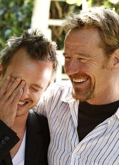 Breaking Bad is so INTENSE, it is nice to see Jesse and Walt happy.