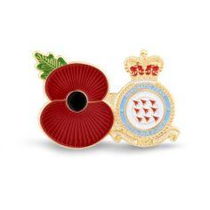 Poppy Shop RAF Service Poppy Pins | Regimental Pins | 100% of profits goes to The Royal British Legion