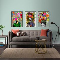 Frida kahlo Stil nordic-decoratio wall art Poster Leinwand-Drucke Malerei Bild W Decor, Wall Art Decor, Wall Decor, Wall Painting Living Room, Mexican Home Decor, Colourful Living Room Decor, Home Decor, Living Room Design Colour, Room Decor